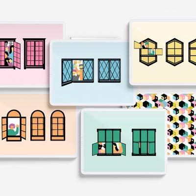 Kuvitus verkkojulkaisuun, design Tanja Kallio