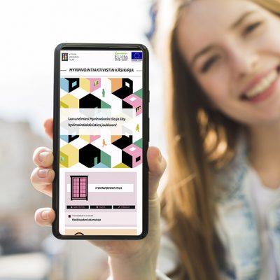 Verkkojulkaisun visuaalisen ilmeen suunnittelu, design Tanja kallio