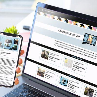 Julkaisun artikkelien ilmeen koordinointi, design Tanja kallio