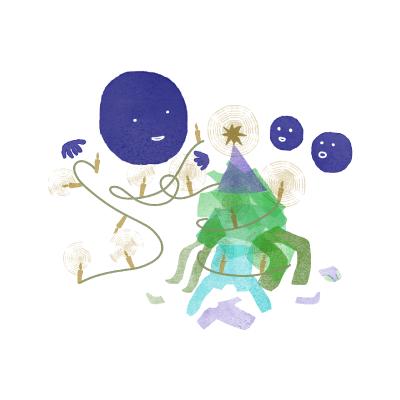 Kuvitus, Spoonful of Awesome Parenting, design Tanja Kallio